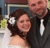Close up of a bride and groom at Olde Square Inn Mount Joy PA